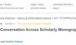 Enabling a Conversation Across Scholarly Monographs through Open Annotation